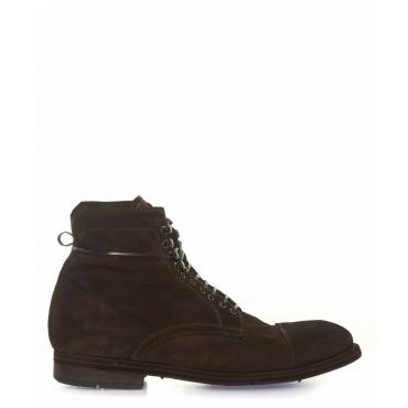 Stivali di pelle marrone scuro