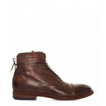 Stivali di pelle marrone