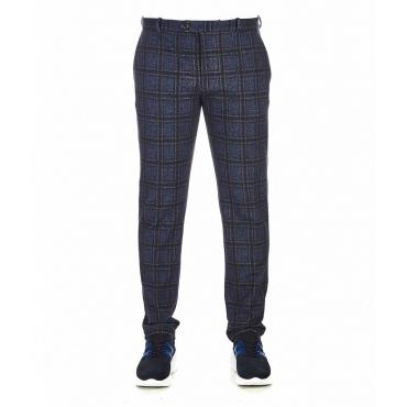 Pantalone con motivo a quadri blu