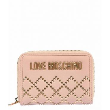 Portafoglio con logo rosa chiaro