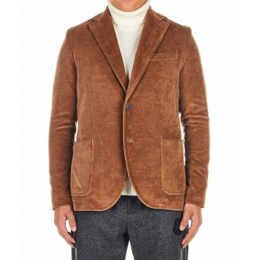 Cotone-Velour Blazer marrone