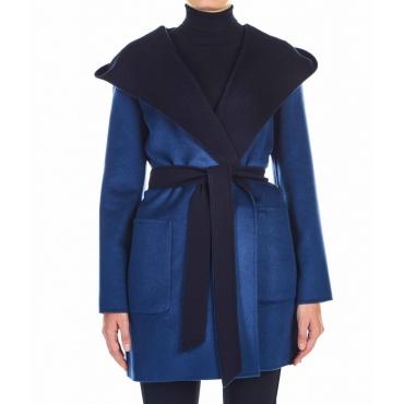 Cappotto Candido in lana vergine blu
