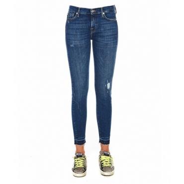 Jeans The skimmy crop blu