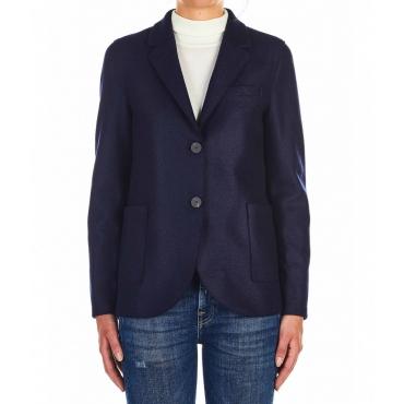 Blazer in lana vergine blu scuro