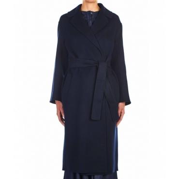 Cappotto Lugano in lana vergine blu scuro