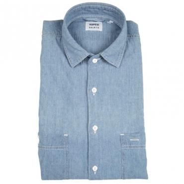 Camicia in chambray di cotone 01122DENIMCH