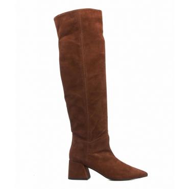 Stivali in pelle camosciata marrone