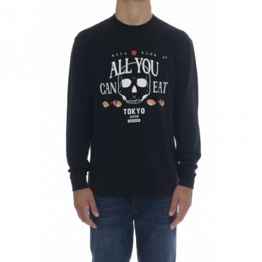 T-shirt - Cpt40122 t-shirt manica lunga 11 - nero