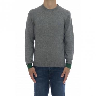 Maglia uomo - K40130 maglia bordino polso 06 - grigio