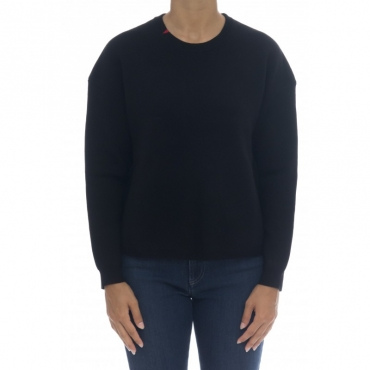 Maglieria - K40222 maglia punto milano 11 - nero