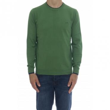 Maglia uomo - K40105 maglia girocollo 49 - Verde bottiglia
