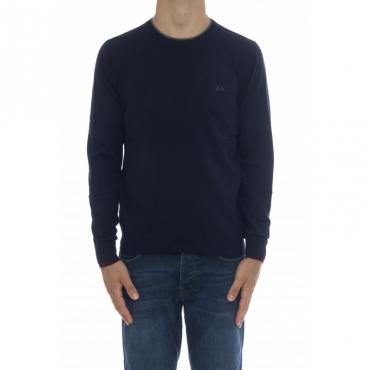 Maglia uomo - K40105 maglia girocollo 07 - Navy