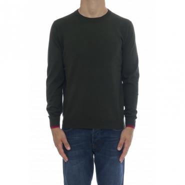 Maglia uomo - K40105 maglia girocollo 37 - verde