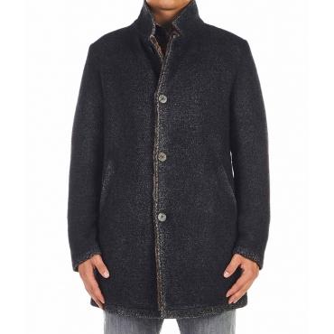 Cappotto in misto lana grigio scuro