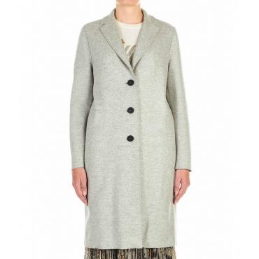 Cappotto in lana vergine grigio chiaro