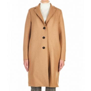 Cappotto in lana vergine Cammello
