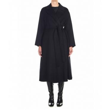 Cappotto Elena in lana vergine nero