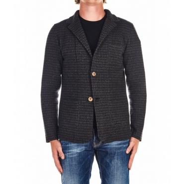 Giacca di lana grigio