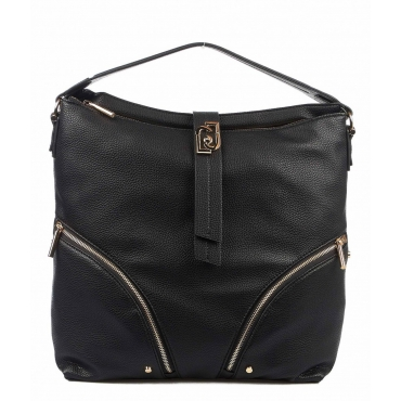 Borsa a mano in ecopelle nero