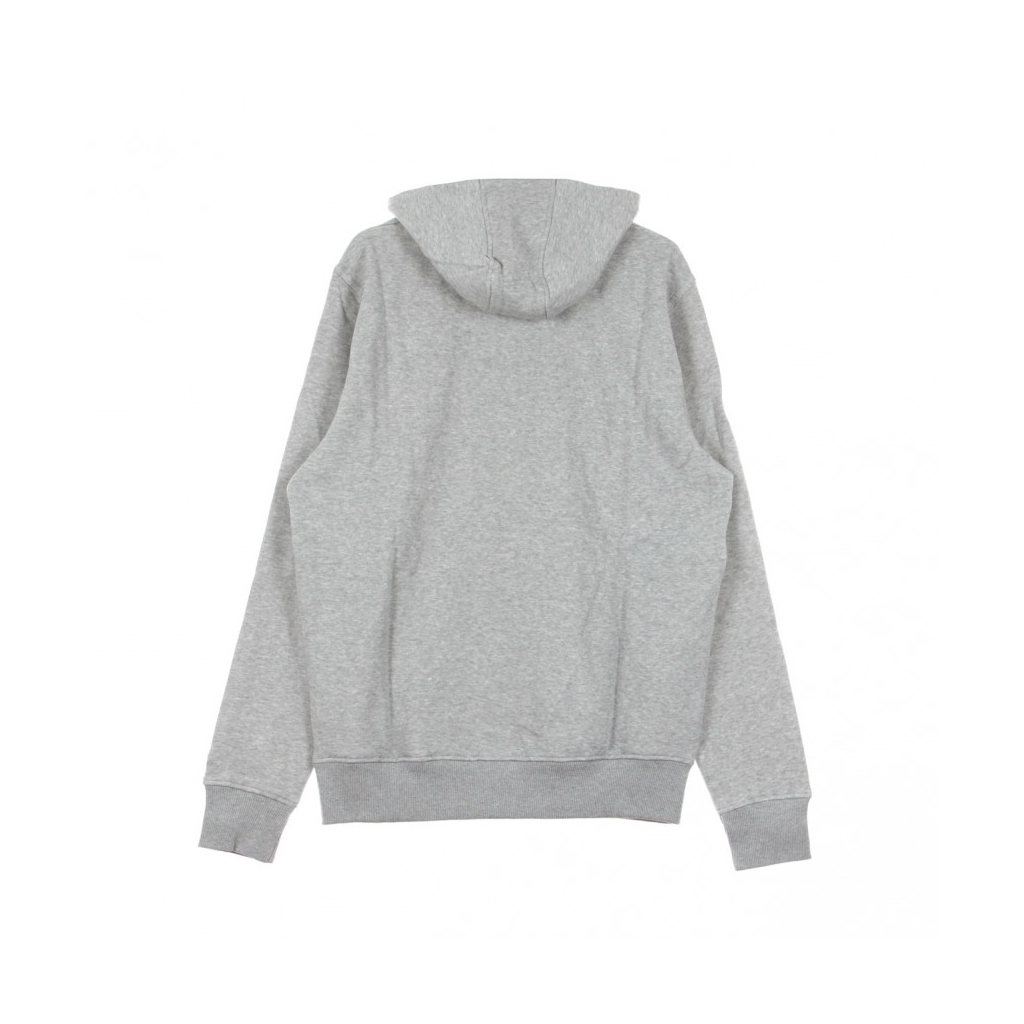 FELPA CAPPUCCIO TEAM LOGO PO HOOD CHIBEA HEATHER GREY/ORIGINAL TEAM COLORS