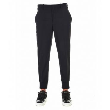 Pantaloni con polsini sul fondo elasticizzati nero
