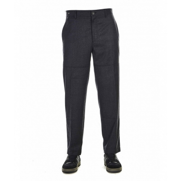 Pantaloni con cuciture divisorie applicate grigio scuro