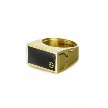 ANELLO CIRCLE H STASH RING GOLD