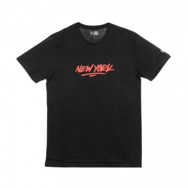 MAGLIETTA NE CONTEMPORARY TEE NEWERA BLACK/RED