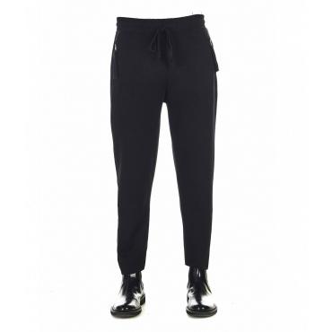 Pantaloni da jogging con orlo sfrangiato nero