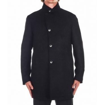 Cappotto di lana vergine nero