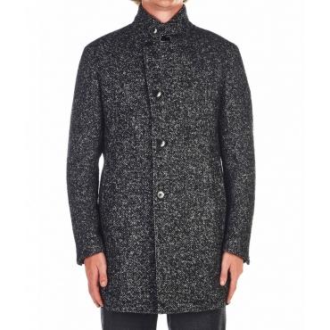 Cappotto di lana vergine grigio scuro