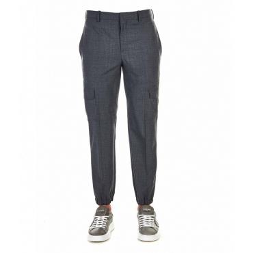 Pantaloni con tasche cargo grigio scuro