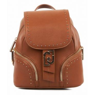 Zaino con dettaglio borchie marrone chiaro