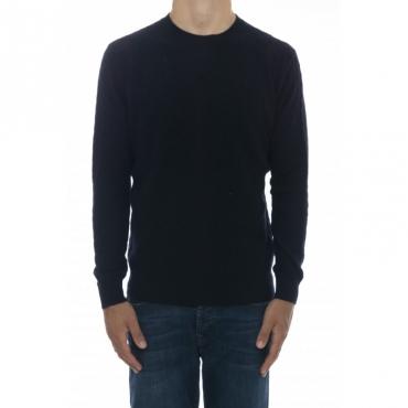 Maglia uomo - 1005/01 lana merinos 100 extrafine 38 - Blu