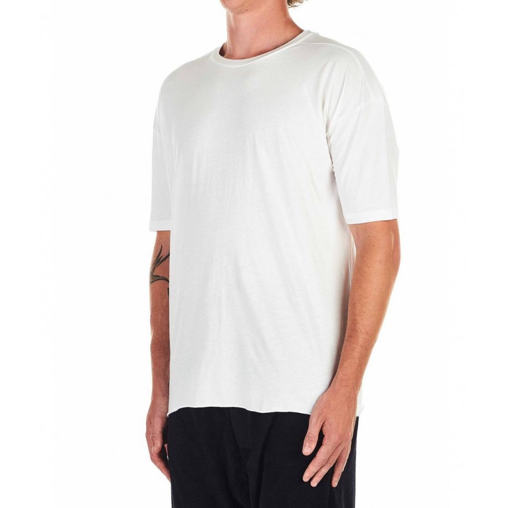 T-shirt con stampa logo bianco