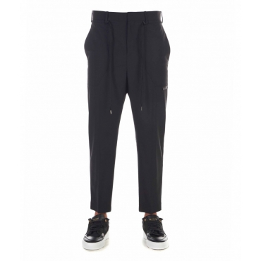 Pantaloni con coulisse esterna nero