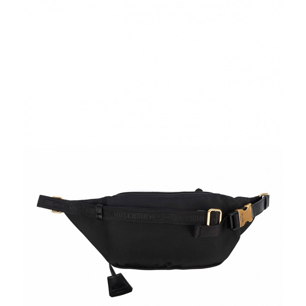 Marsupio con logo nero