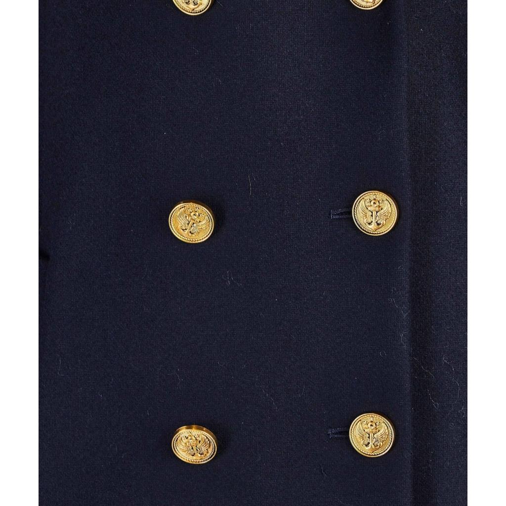 Cappotto-caban con dettagli in oro blu royal