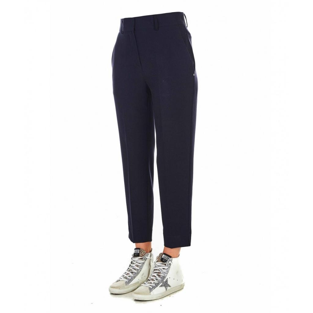 Pantalone elegante blu scuro