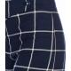 Pantaloni larghi con motivo windowpane blu royal