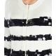 Giacca leggera in maglia con paillettes bianco