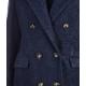 Cappotto in Boucl blu scuro