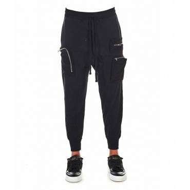 Pantaloni da jogging con coulisse nero