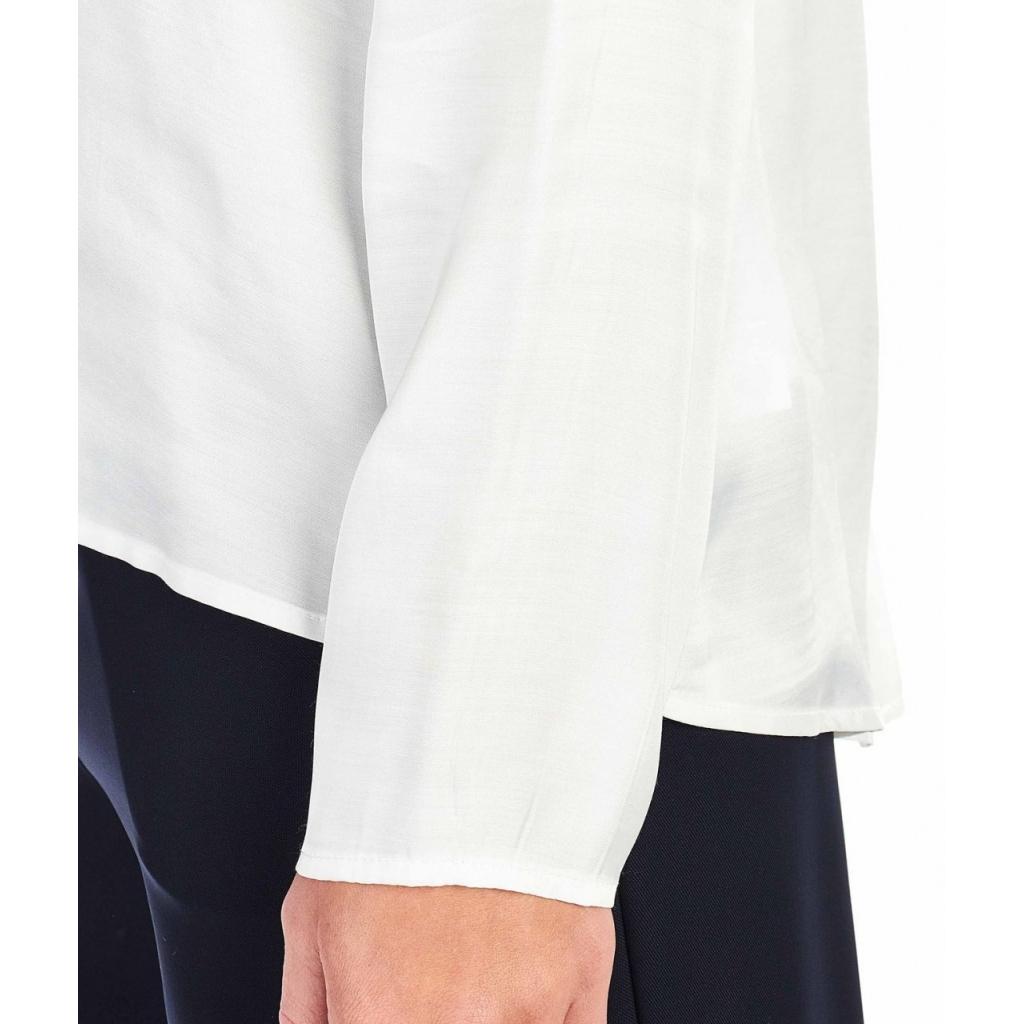Camicia con orlo asimmetrico bianco
