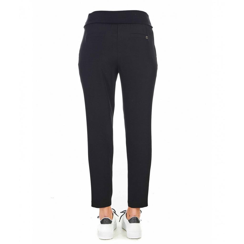 Pantaloni con baschina nero