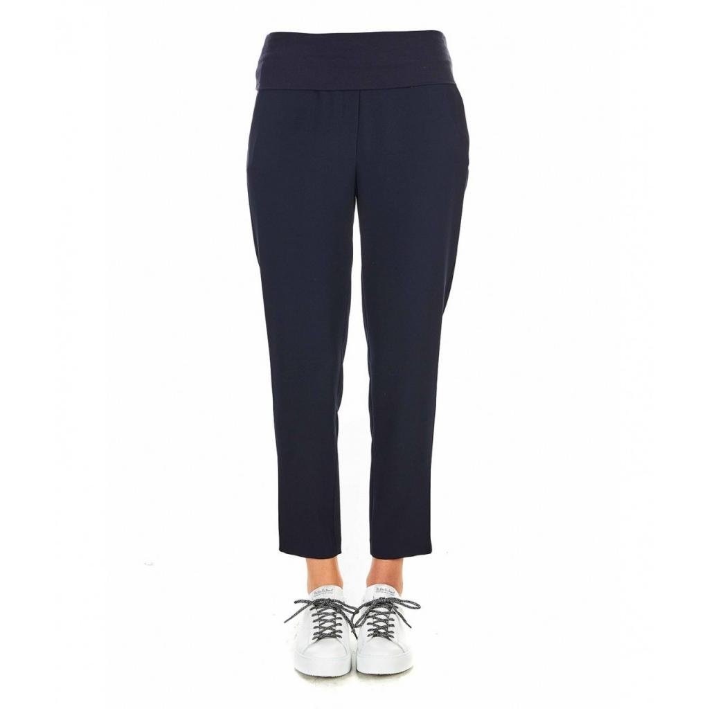 Pantaloni con baschina blu
