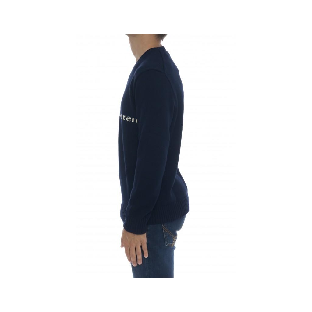 Maglia uomo - 810847 maglia cotone scritta logo 001 - blu