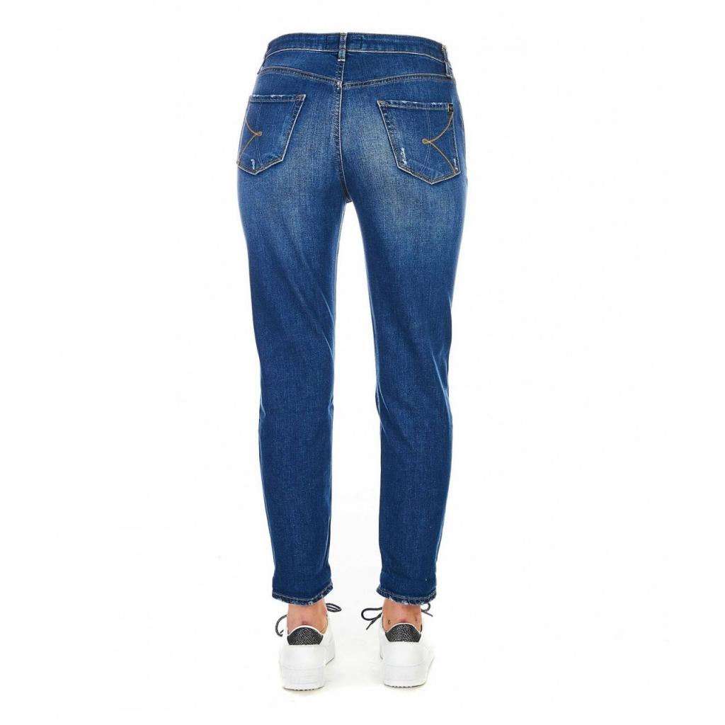 Jeans con dettagli destroyed blu