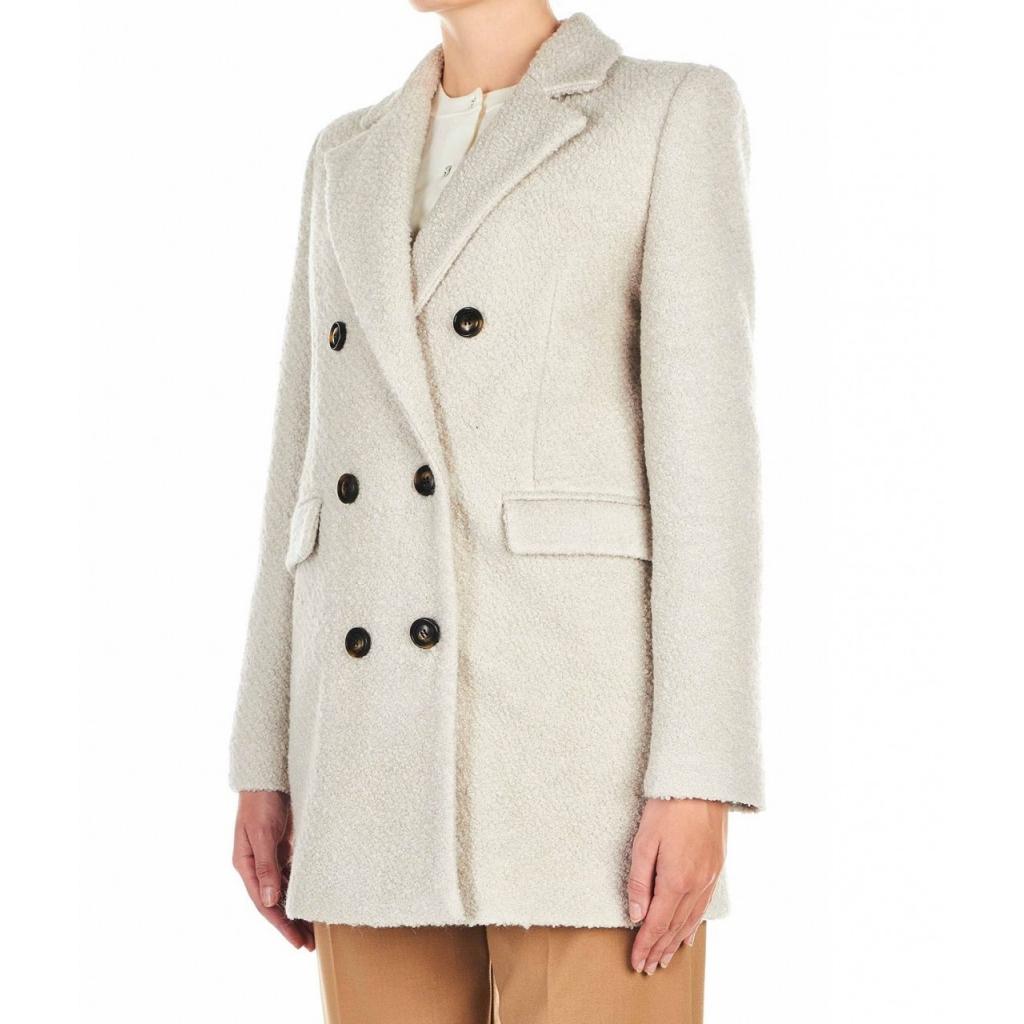 Cappotto in Boucl crema
