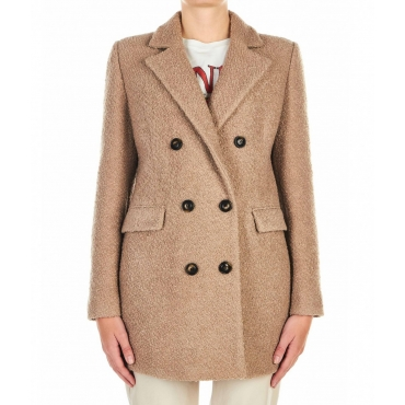 Cappotto in Boucl beige